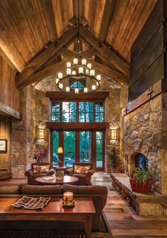 Needs more windows. Pole Barn Homes, Colorado Homes, Castle House, Lodge Style, Log Cabin Homes, Cabin Interiors, House Goals, Home Design, Architecture