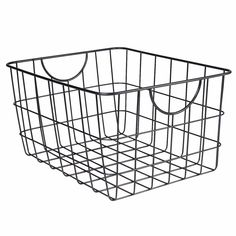 Clear up space from any room with the Utility Wire Basket. Crafted from sturdy steel to withstand any item. Use in any kitchen, office or bathroom Wire Basket Storage, Wire Storage, Metal Baskets, Media Storage, Storage Baskets, Sheet Storage, Declutter Your Home, Organizing Your Home, Organizing Tips