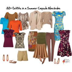 32 Outfits in a Summer Capsule Wardrobe by imogenl on Polyvore