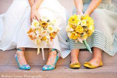 Mariage en bleu clair et jaune - Couleur mariage