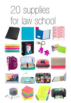Here are my 21 must have school supplies for law school   brazenandbrunette.com