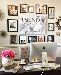 Home Office Decor Like Thd Prada Marfa Wall