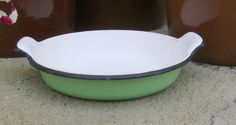 Vintage French enamelware dish by letsbevintage on Etsy, $14.99