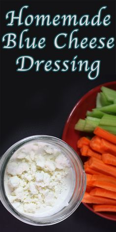 Blue Cheese Dressing - Creamy, tangy and chunky blue cheese dressing ...