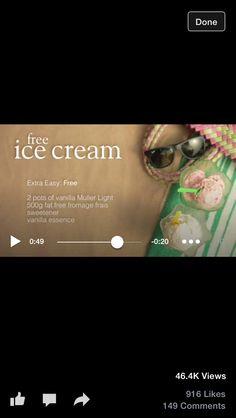 Syn Free Icecream Low Syn Treats, Syn Free, Vanilla Essence, Slimming World, Icecream, Soap, Philly Cream Cheese, Ice Cream, Bar Soap