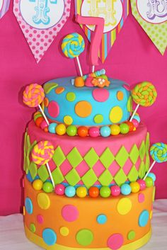 Halles 7th Candy Shoppe Birthday Party