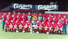 Squad picture for the 1992-1993 season - LFChistory - Stats galore for Liverpool FC!