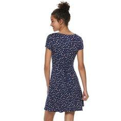 8806a107661 Juniors  Mudd® Short Sleeve Cinch Front Dress