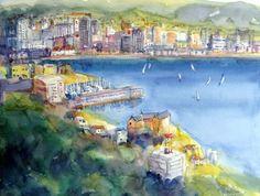 'Glimpse of Wellington' by Helen Wilson Wellington New Zealand, Past Presidents, Art Club, Fashion Art, Cities, Art Ideas, Animation, Colours, Watercolor