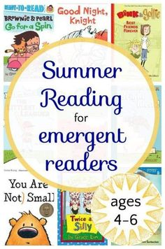 Summer reading list for kindergarteners and 1st graders. Books for beginning readers.
