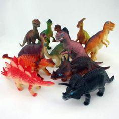 Plastic Toy Dinosaurs - Set of 12
