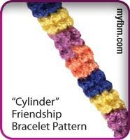 Friendship Bracelet Pattern Cylinder Design by My Friendship Bracelet Maker myfbm.com