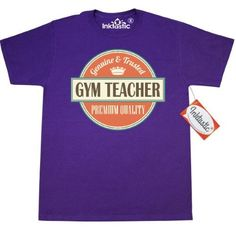 Inktastic Gym Teacher Gift T-Shirt Pe Physical Education Teaching Vintage School Back To Occupations Mens Adult Clothing Apparel Tees T-shirts Hws, Size: XXL, Purple