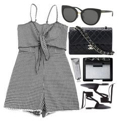 """Square"" by smartbuyglasses ❤ liked on Polyvore featuring Coach, Chanel, NARS Cosmetics, Bloomingville, J.W. Anderson, black and gray"
