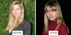 JESSICA HART one of the BEST CELEBRITY HAIR CHANGES OF 2015. The model showed up at New York Fashion Week with fresh, eye-skimming bangs that look just as good when they're slept-in, tousled and piece-y as they do when they're blown out for full drama.