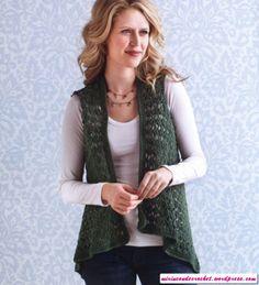 Chaleco Irregular a Crochet