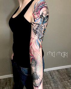Tattoo artist Mo Mori authors style sketch watercolor tattoo   Germany, Berlin   #inkpplcom #colortattoo #sketch #watercolor #brighttattoo #sketchstyletattoo #fullcolortattoo #animalstattoo #authorsstyle