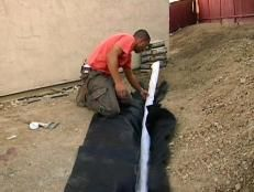 How to Install French Drains | Outdoor Design - Landscaping Ideas, Porches, Decks, & Patios | HGTV