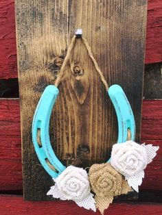 Your E-Organization - Employ An Accountant Or Do It Yourself Burlap Flower Lucky Horseshoe-Turquoise Twisted Wire Horseshoe Decor Horseshoe Projects, Burlap Projects, Horseshoe Crafts, Lucky Horseshoe, Horseshoe Art, Burlap Crafts, Wood Crafts, Fun Crafts, Arts And Crafts