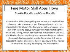 Fun App for fine motor skill development!