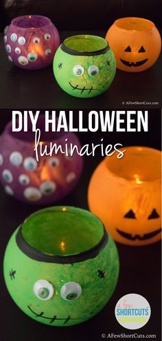 If you are looking for a fun Halloween Craft to do with the kids these DIY Halloween Luminaries are so much fun!