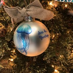 Spruce up your tree with a sea-inspired ornament this Christmas! Mermaid Leggings, Mermaid Shirt, Mermaid Diy, Mermaid Style, Mermaid Makeup, Mermaid Purse, Mermaid Outfit, Mermaid Jewelry, Christmas Ideas