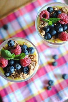 Lemon curd with mixed berries. Oh lordy lord, this was delicious! I absolutely loved it and it's such an amazing way of using up egg yolks, we use a lot of whites and we usually have them left over. Will be making this time and time again - it's absolutely delicious. Might try tweaking the recipe as well. 5/5