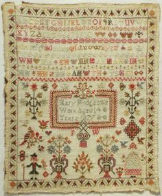 Early 19th Century Sampler by Mary Hodgson 1827 | eBay