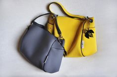 TRACOLLA BB Small in Grey and BB Large in Dark Yellow