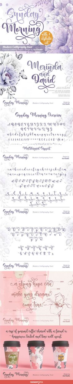 Sunday Morning is a script font created with love, sincerity, and patience. can be used to make invitation writing, lettering, and all graphic design needs. This font is equipped with 7 stylistic sets that will make your design look more attractive and beautiful.