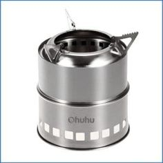 8. Ohuhu Portable Stainless Steel Wood Burning Camping Stove