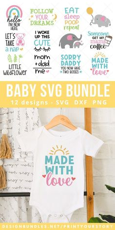 Download Baby SVG bundle for Nursery, Baby Shower, Gifts, Newborn SVG (1470350) today! We have a huge range of SVGs products available. Commercial License Included. #ad Baby Svg, Sublimation Paper, Diy Craft Projects, Crafts, Homemade Baby, Line Design, School Design, Design Bundles, Baby Shower Gifts