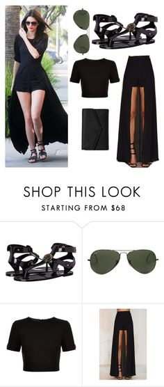 """kendall jenner style"" by eeviee ❤ liked on Polyvore featuring Versace, Ray-Ban, Ted Baker, Lioness and LULUS"