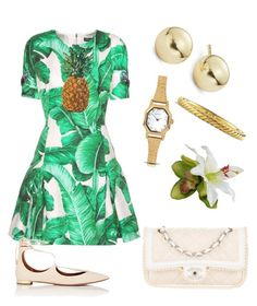 Tropical style by elyrod on Polyvore featuring polyvore, fashion, style, Dolce&Gabbana, Aquazzura, Chanel, Lord & Taylor, Sekonda, David Yurman and clothing