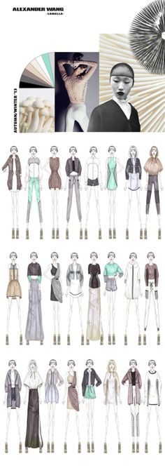 Fashion Portfolio - fashion design with a sports luxe aesthetic, based on the organic shapes of mushrooms  fungi; fashion illustration // Ruth Godding