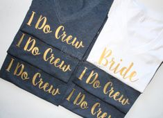 Bridal Party Shirt Set. Bridal Party shirts. Bridal Party Tanks. Bridesmaid Shirt. Bride Shirt. Maid of Honor. Bridal party. Wedding.