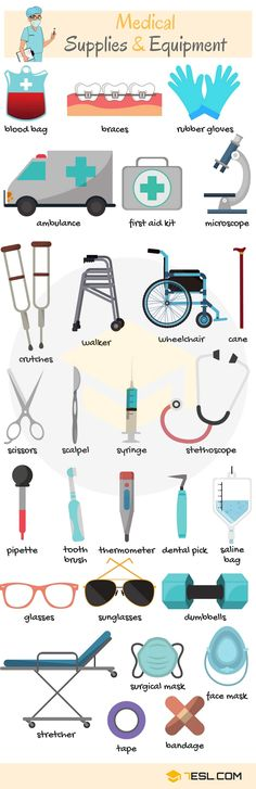 Medical Supplies and Equipment Vocabulary in English supplies Medical Supplies and Equipment Vocabulary in English - ESLBuzz Learning English English Tips, English Study, English Class, English Lessons, English English, French Lessons, Spanish Lessons, English Vocabulary Words, Learn English Words