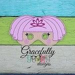 Lala  Mask 5 Embroidery Design - 5x7 Hoop or Larger