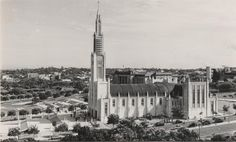 MOZAMBIQUE OLD IMAGES: Postal anos 1950 LOURENÇO MARQUES - CATEDRAL - MOÇAMBIQUE AFRICA MOZAMBIQUE LOURENÇO MARQUES CATHEDRAL 1950, Maputo, Burj Khalifa, Colonial, Places To Visit, Building, Silhouettes, Old Pictures, Cities