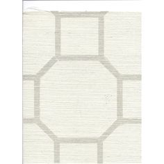 Gridlock Grasscloth Double Roll Wallpaper in White