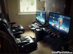 Gaming setup for Playstation and Xbox.