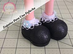 Como hacer zapatos para muñecas fofuchas