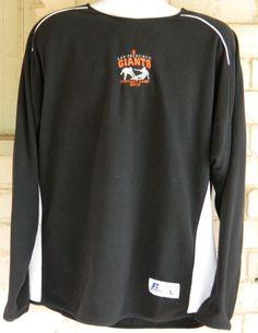 Men's San Francisco Giants Fantasy Camp 2012 Long Sleeve Pullover Black Size L #sfgiants #RussellAthletic #FleeceTops
