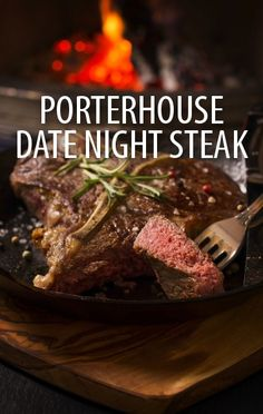 Rachael Ray showed how you can make the perfect date night meal at home, her Salsa Verde Porterhouse Steaks Recipe with mashed potatoes and a fresh salad. Turkey Recipes, Beef Recipes, Vegetarian Recipes, Cooking Recipes, Porterhouse Steak Recipe, Oven Steak, Appetizer Recipes, Dinner Recipes, Parfait