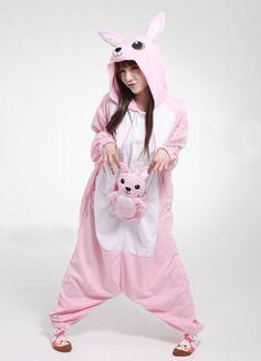 Pink Kangaroo Kigurumi