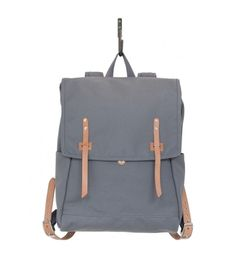 Farm Ruck Sack Gray Canvas and Natural HF Simple backpack. Gray heavy cotton duck and natural HF leather. Heavy cotton webbing and padded shoulder straps. Best Canvas, Canvas Backpack, Mom Backpack, Charlie Brown, Fashion Accessories, Backpacks, Tote Bag, Purses, My Style