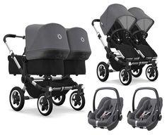 Bugaboo Donkey 2 Twin Zwillingskinderwagen mit Maxi Cosi - Quinny Stroller - Ideas of Quinny Stroller -. Bugaboo Donkey, Bugaboo Stroller, Double Baby Strollers, Twin Strollers, The Babys, Newborn Twins, Twin Babies, Twin Pram, Twin Twin