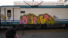 #owner #latinos #street #city #urban #italy #streetart #art #train #graffiti #strada #arte #crime #sicily #treno #2012 #trenitalia #artedistrada