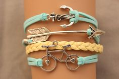 arrow bracelet anchor bracelet  bike by fashionhealthylife, $6.99