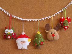 Slinger met kerstfiguurtjes Kijk voor vilt eens op http://www.bijviltenzo.nl